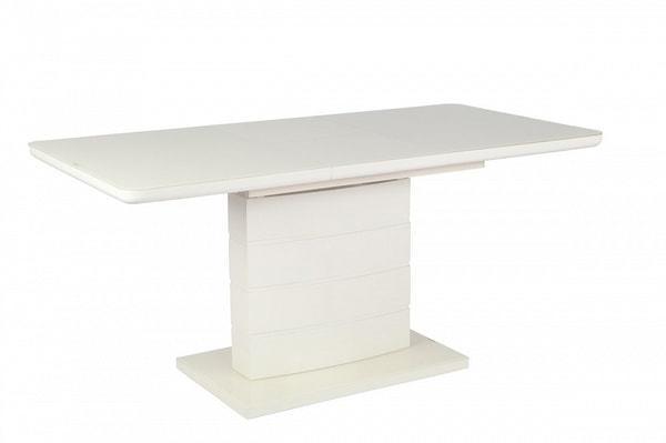 Стол ALTA 120 BEIGE / супер бежевое глянцевое стекло (фото, вид 3)