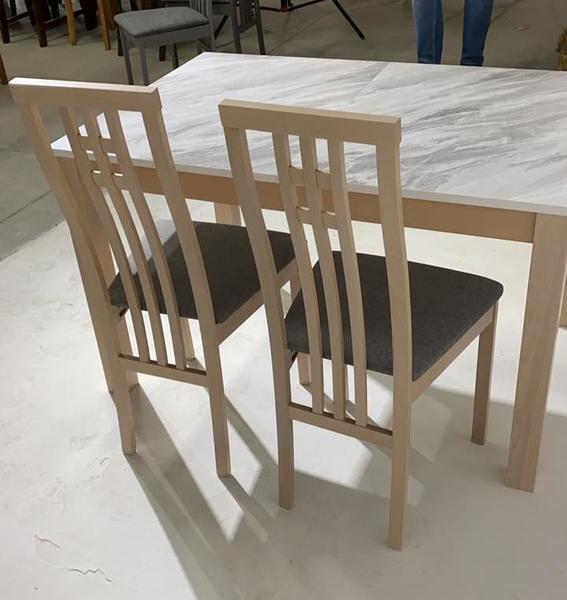 Обеденная группа (стол TME-6931 MBH MILKY WHITE/ SWEDEN + 4 стула СB-2482YBH MILKY WHITE/ CAMEL) (фото, вид 2)
