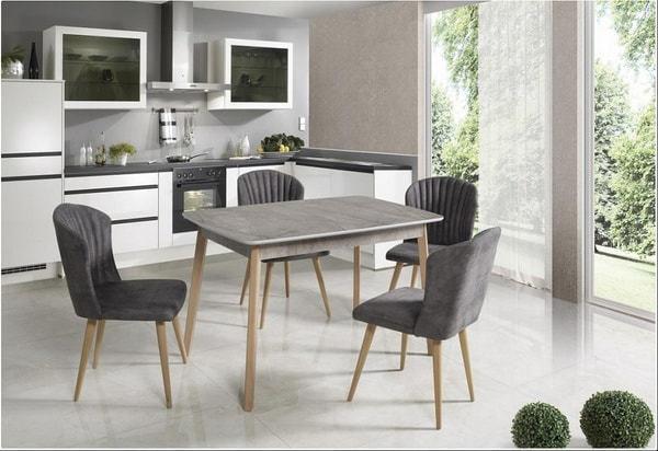 Стол 29 GRAY MARBLE серый мрамор (фото, вид 7)