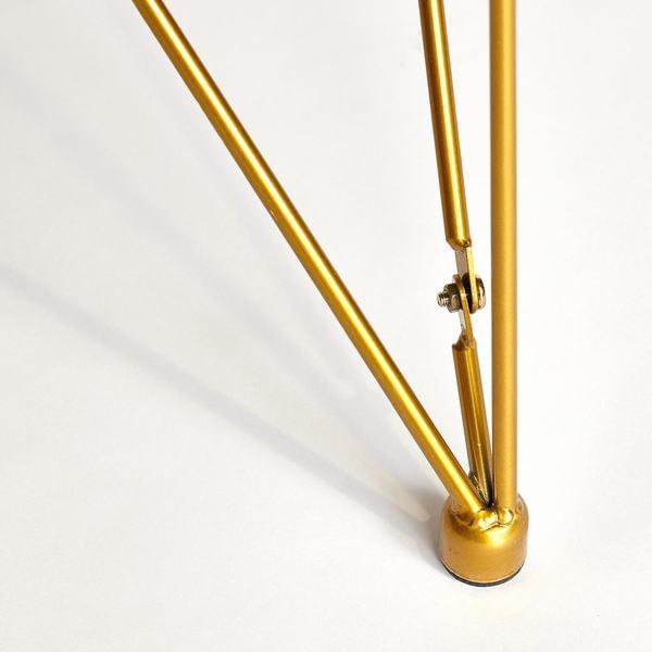 Стол Vulcano (mod. DT1423) черный/золотой (фото, вид 1)