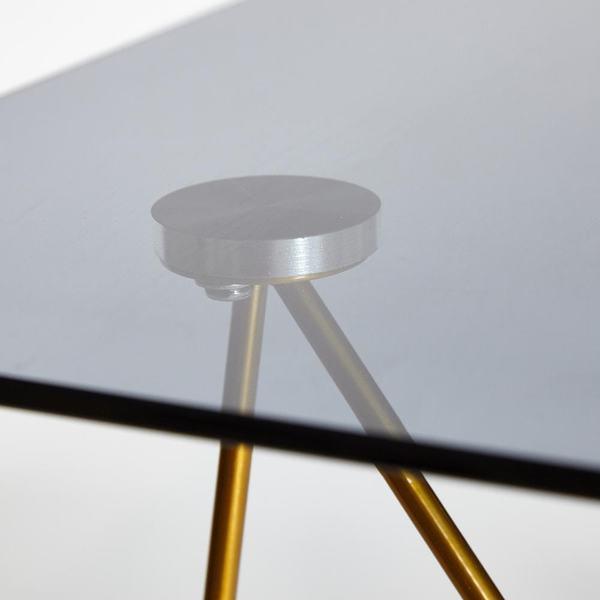 Стол Vulcano (mod. DT1423) черный/золотой (фото, вид 4)
