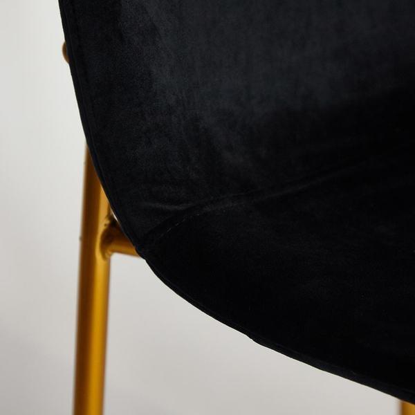 Стул Rex (mod. DC5037) черный/золотой (фото, вид 7)