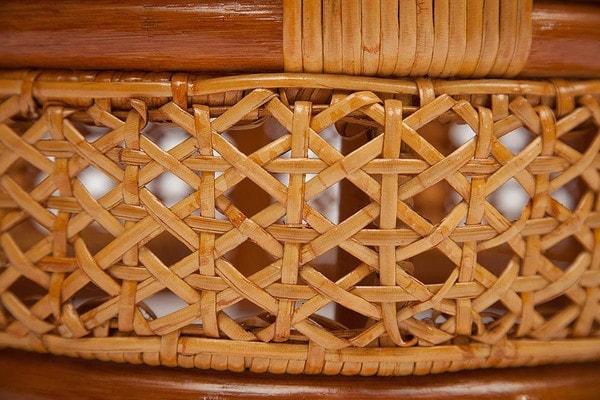 Комплект Pelangi (Пеланги) 02/15 (Honey - Мёд) стол со стеклом + 4 кресла (фото, вид 2)