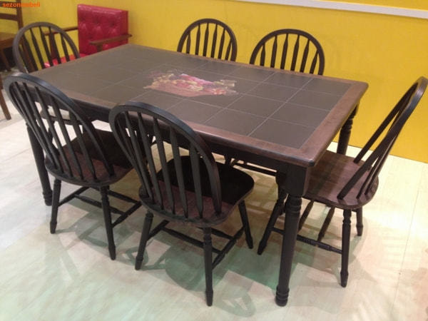 Стол обеденный с плиткой СТ 3760Р (венге) (фото, вид 1)