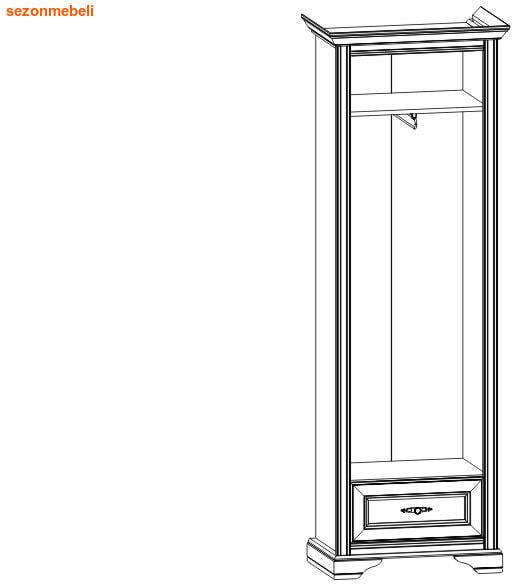 Шкаф Стилиус NSZF 1d1sL/P (правый/левый) (фото, вид 2)