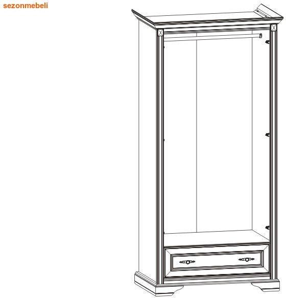 Шкаф 2-дверный Стилиус NSZF 2d1s (фото, вид 1)