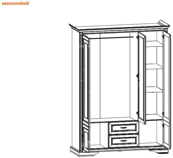 Шкаф Стилиус NSZF 3d2s (фото, вид 1)