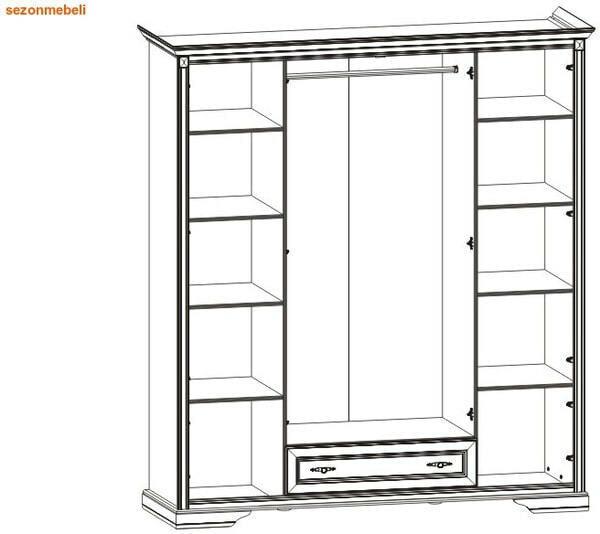 Шкаф 4-дверный Стилиус NSZF 4d1s (фото, вид 1)