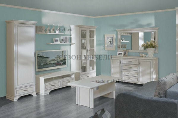 Зеркало Кентаки LUS/155 белый (фото, вид 1)
