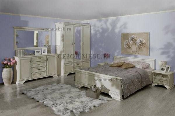 Кровать Кентаки LOZ140/160/180x200 (белый) (фото, вид 1)