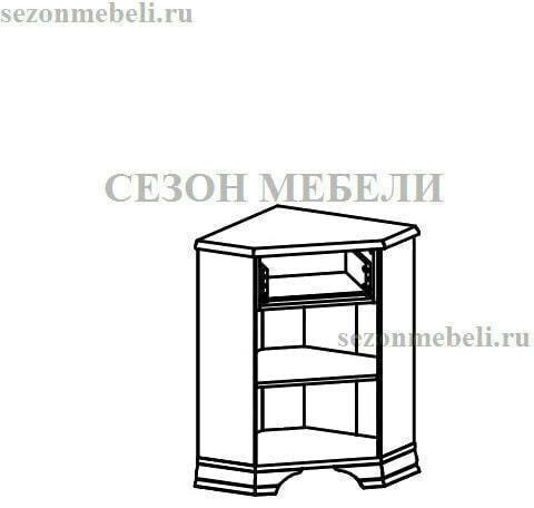 Тумба Кентаки KOMN1D1S/P(L) белый (правая/левая) (фото, вид 1)