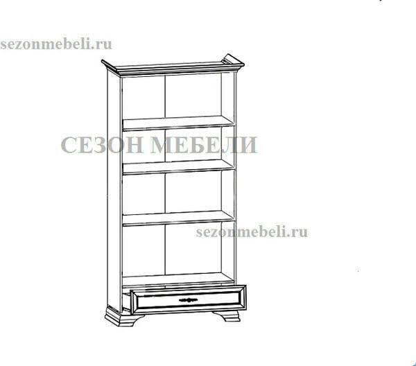 Шкаф-витрина Кентаки REG2W1S белый (фото, вид 1)