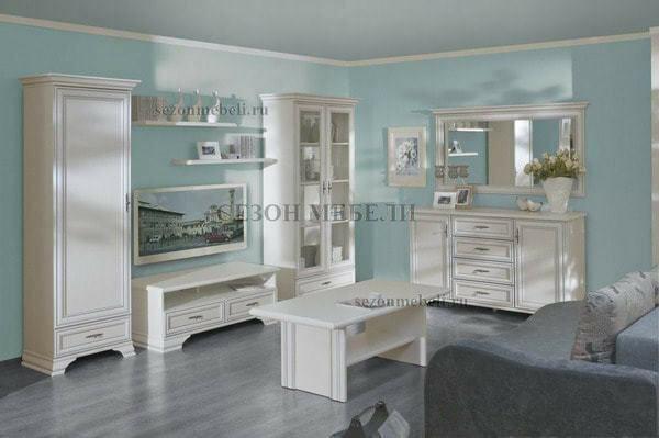 Шкаф-витрина Кентаки REG2W1S белый (фото, вид 2)