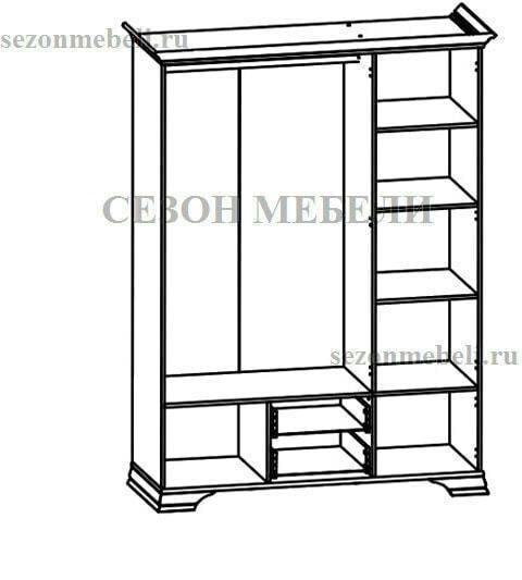 Шкаф Кентаки SZF5D2S белый (фото, вид 1)