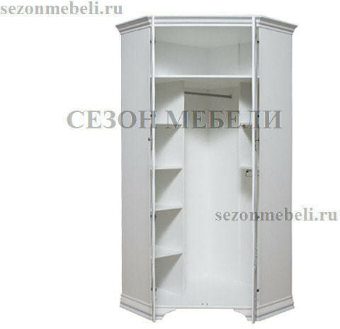 Шкаф угловой Кентаки SZFN2D белый (фото, вид 1)