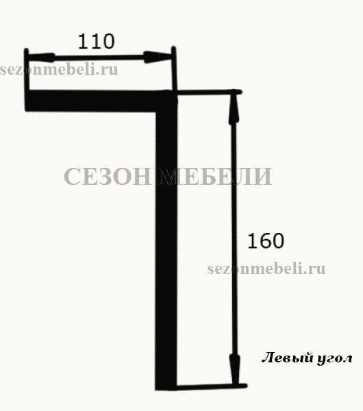 Диван угловой Картрайд с углубленным ящиком (фото, вид 9)