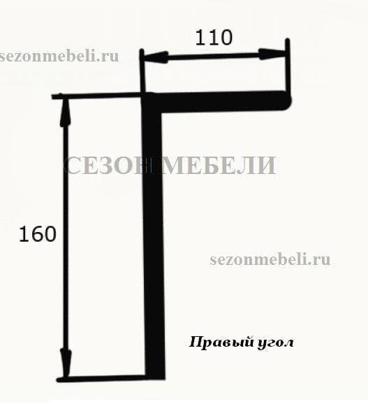 Диван угловой Картрайд с углубленным ящиком (фото, вид 10)