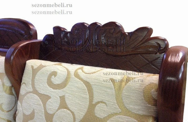 Диван угловой Себастьян с резьбой (фото, вид 6)