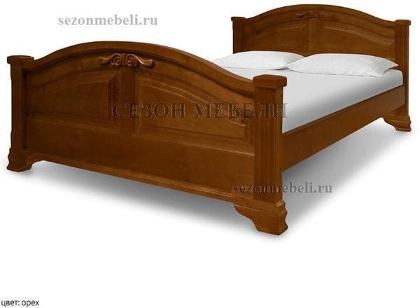 Кровать Леонсия с резьбой (фото, вид 1)