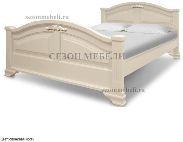 Кровать Леонсия с резьбой (фото, вид 5)
