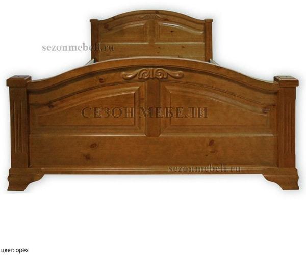 Кровать Леонсия с резьбой (фото, вид 2)