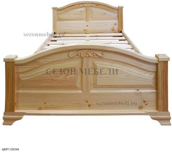 Кровать Леонсия с резьбой (фото, вид 6)