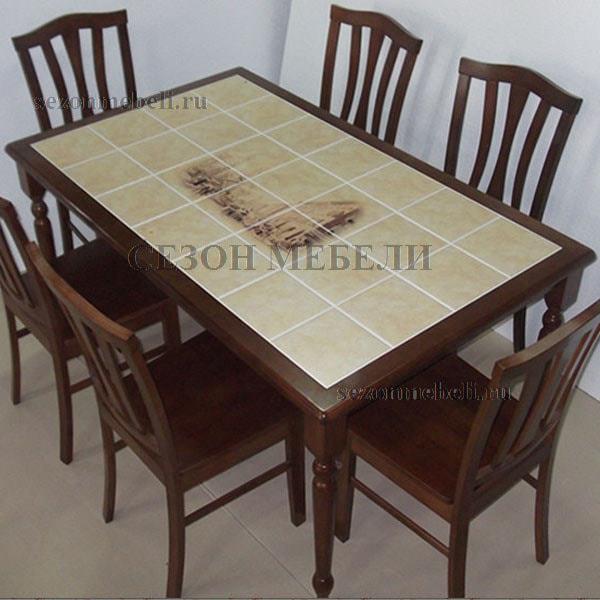 Стол обеденный с плиткой СТ 3760Р (фото, вид 3)