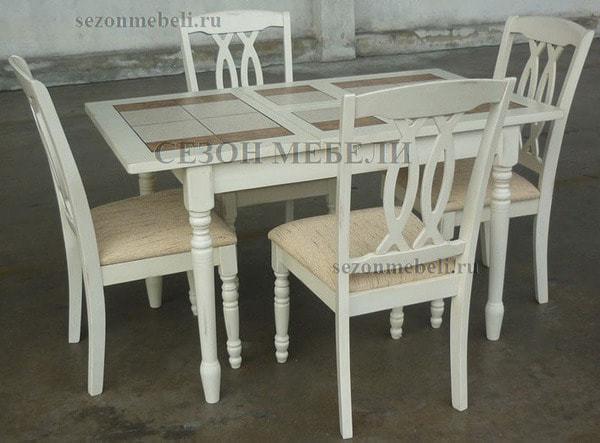 Стол LT T13302 BUTTERMILK #WW21/ плитка 2 тона LILY WHITE/ COSMO (фото, вид 3)