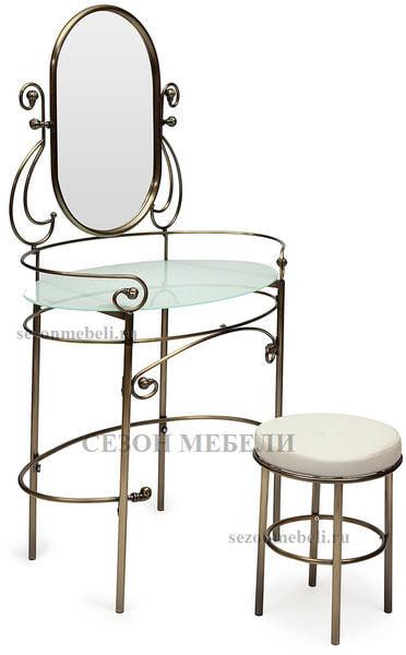 Туалетный столик Albert (Альберт) с пуфом (ан. 9909) (фото, вид 1)