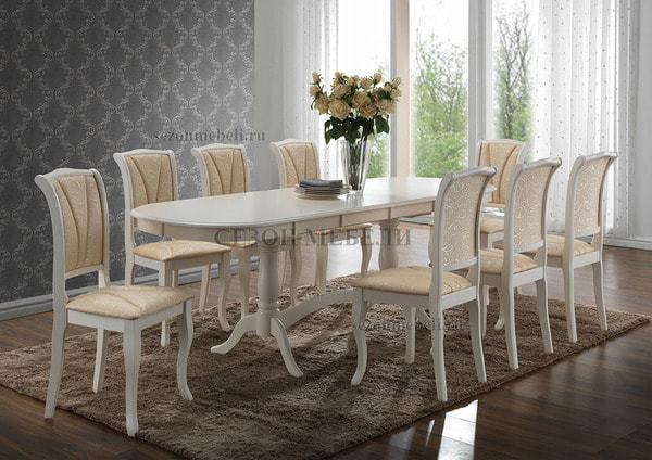Стол Siena/ Сиена (SA-T6EX2L) Ivory white (фото, вид 3)
