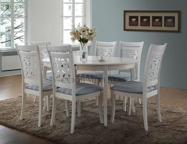 Стол Milano (MN-T4EX) ivory white (фото, вид 1)