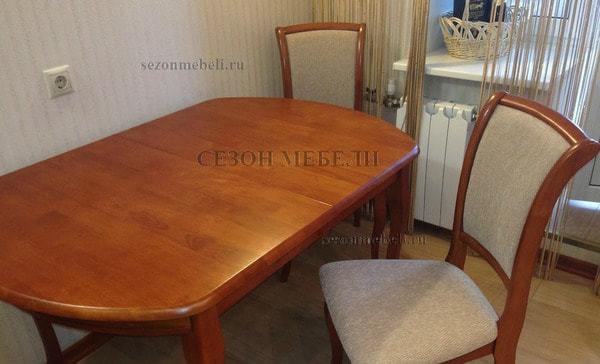Обеденная группа (стол Alicante Cherry+стулья Milano Cherry (MN-SC)) (фото, вид 1)