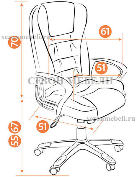 Кресло офисное Baron (Барон) (фото, вид 16)