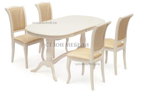 Стол Eva (EV-T4EX) Ivory White (фото, вид 4)