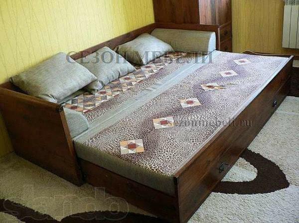 Кровать раздвижная Индиана JLOZ 80/160 дуб саттер (фото, вид 3)