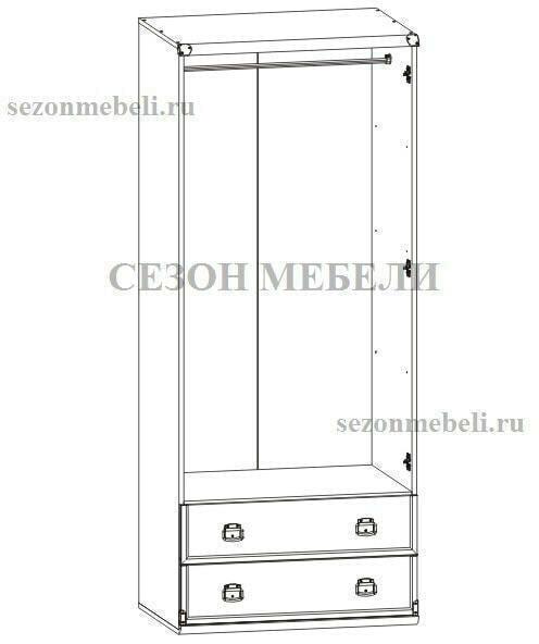 Шкаф Индиана JSZF 2D 2S 80 дуб (с полками) (фото, вид 1)
