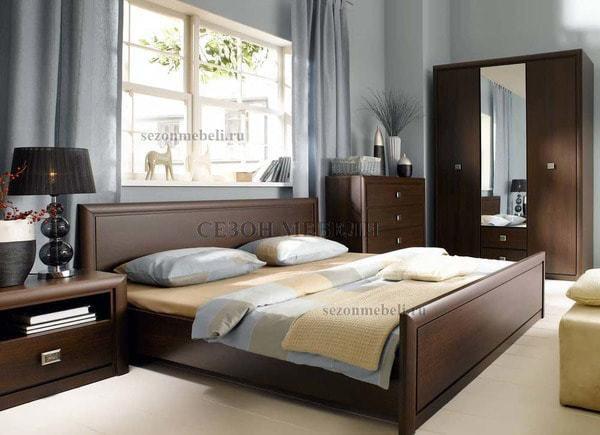 Кровать Коен LOZ140/160/180x200 венге магия (фото, вид 1)