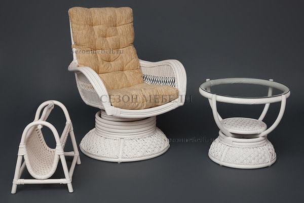 Кресло-качалка Andrea Relax Medium White (Андреа Релакс Медиум) (фото, вид 2)