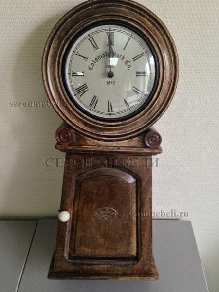 Часы колониальные с ключницей C-2632 (фото, вид 2)