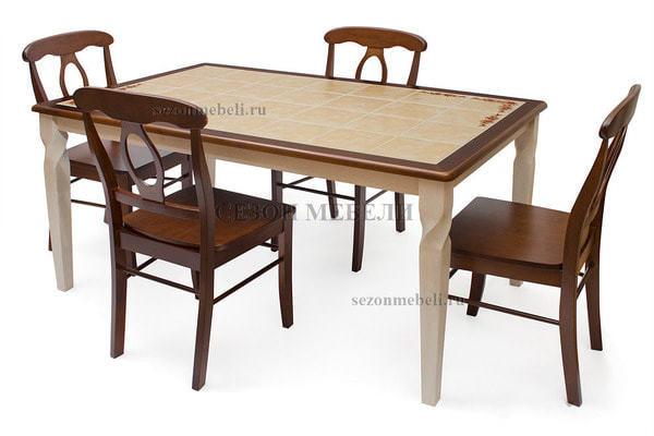 Стол обеденный с плиткой Emir СТ 3760Р (Эмир) (фото, вид 1)