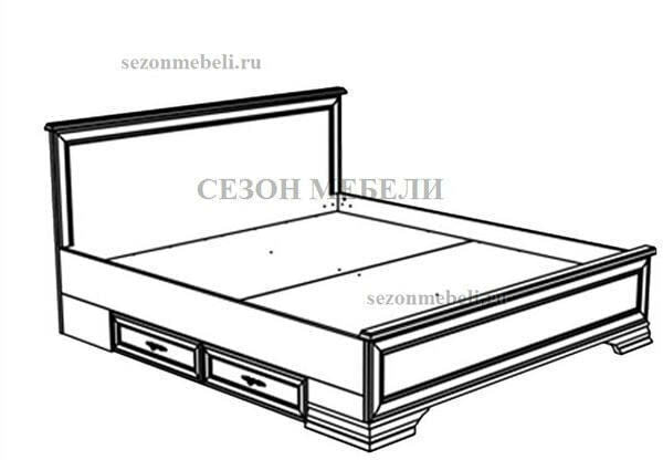 Кровать Кентаки LOZ140/160/180x200 (белый) (фото, вид 2)