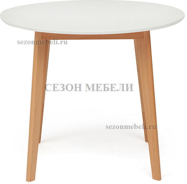 Обеденная группа (стол Bosco и стулья Maxi) натуральный (фото, вид 1)
