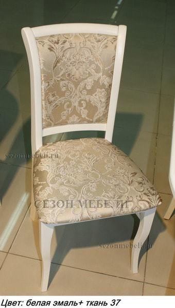 Стул М15 белая эмаль ткань 37 (фото, вид 2)