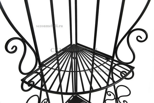 Этажерка угловая Secret De Maison 001 черный (фото, вид 1)