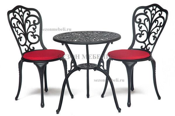Комплект Secret De Maison Romance (Романс) (стол +2 стула) черный (фото, вид 1)