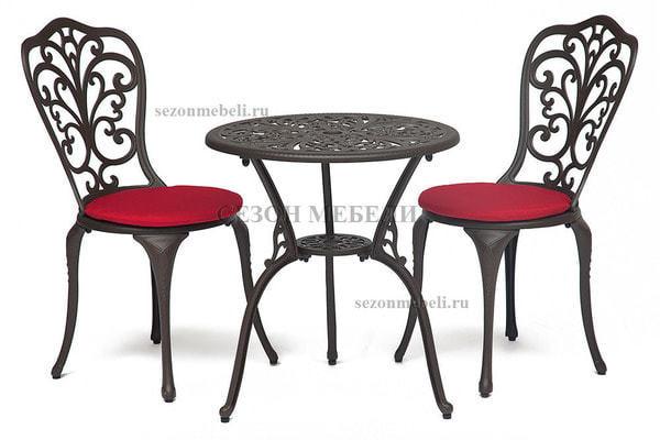 Комплект Secret De Maison Romance (Романс) (стол +2 стула) черный (фото, вид 4)