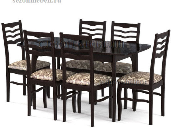Стол М15 ДН4 венге/стекло черное (фото, вид 2)