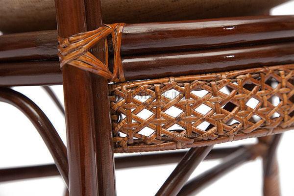 Комплект Pelangi (Пеланги) 02/15 (Walnut - Грецкий орех) стол со стеклом + 4 кресла (фото, вид 2)