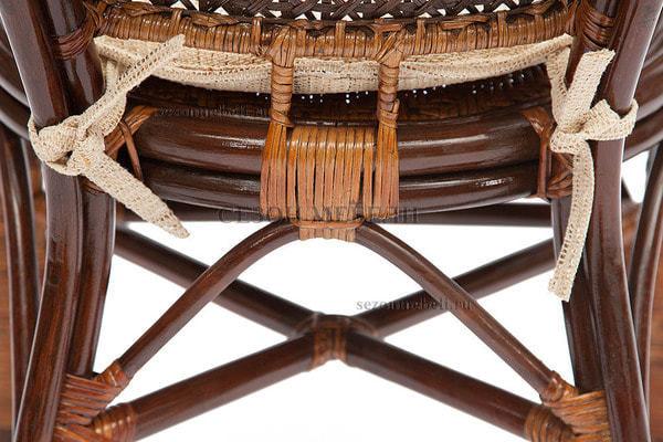 Комплект Pelangi (Пеланги) 02/15 (Walnut - Грецкий орех) стол со стеклом + 4 кресла (фото, вид 3)