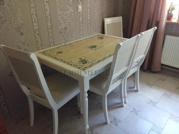 Стол с плиткой CT 3349 (Прованс) (фото, вид 5)